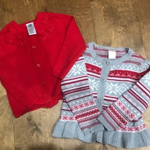 Gymboree EUC Girls 2T Sweaters, Qty. 2